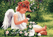 Greek Art Paintworks Paint Colour By Number Kits,Innocence Angel,41cm by 50cm
