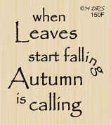 Autumn Is Calling Greeting Rubber Stamp By DRS Designs