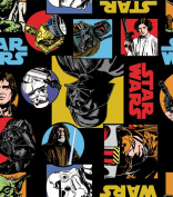 """1 Yard - Star Wars """"Characters"""" 100% Cotton Fabric - Officially Licenced (Great for Quilting, Sewing, Craft Projects, Throw Pillows, Quilts & More) 1 Yard X 110cm"""
