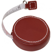 Cowhide Leather Locking Tape Measure with Press-release Retraction