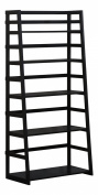 Simpli Home Acadian Ladder Shelf Bookcase, Black
