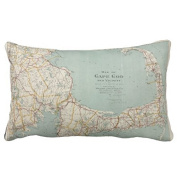 Vintage Map of Cape Cod (1917) Personalised Rectangle Zippered Pillowcase Cover Standard Size 41cm x 60cm One Side