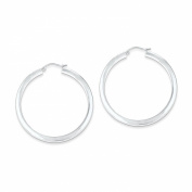Sterling Silver Square Hoop Earrings