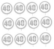 Cakesupplyshop Item#548uj- 12pack 40th Birthday Cupcake Toppers Decoration Picks