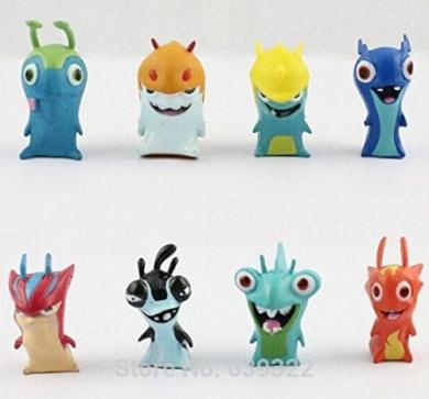 Cute New Movie Cartoon Slugterra Figures Toys PVC Dolls Gift For Children Retail 1 set (8pcs)