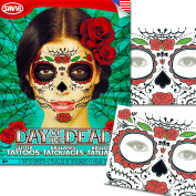 Sugar Skull Temporary Tattoos Costume Kit