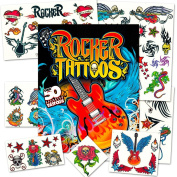 Rock Star Temporary Tattoos Party Favour Set