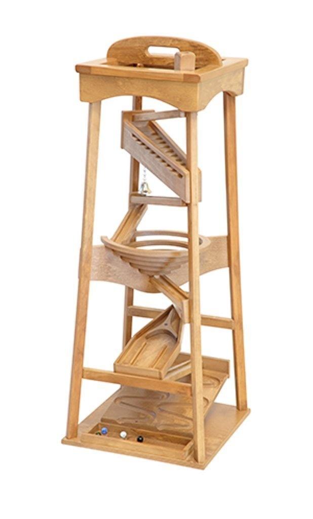 Wooden Marble Pyramid Run Tower Maze Machine Toy