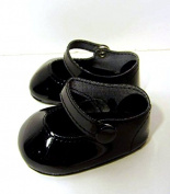 Black Patent Mary Jane Snap Shoes - American Girl Doll Shoes, 46cm doll shoes clothes