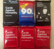 Cards Against Humanity Science Pack, Reject Pack, 90's Pack, Holiday Packs 2012, 2013 & 2014 Bundle Expansions Limited Editions