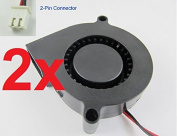 2pcs 2x Dc 5015s 5v 50mm X 15mm Turbine Brushless Cooling Blower Fan A9