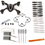 AVAWO for Hubsan X4 H107L 8-in-1 Quadcopter Black/White Spare Parts Crash Pack(As shown)+Free Gift