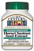 Horse Chestnut Seed Extract 60 Veg Caps by 21st Century