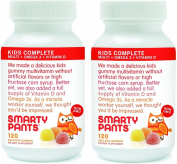 Smartypants Vitamins Gummy Vitamins with Omega 3 Fish Oil and Vitamin D, 120 Gummies