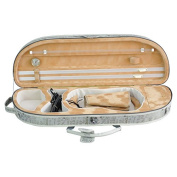 ADM 4/4 Full Size Half Moon Shape Lightwight Violin Case with Bulit-in Hygrometer and Leather Strap