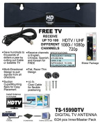 Razor Thin HD Digital Indoor TV Antenna