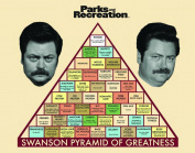 Parks and Recreation Ron Swanson Pyramid Workplace Comedy TV Television Show Poster Print 11x14