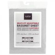 Kushies Baby Multi-fit Adjustable Bassinet Sheet, Grey