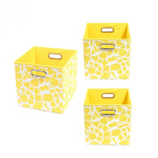 Modern Littles Organisation Bundle-3 Storage Bins, Rusty Giraffe