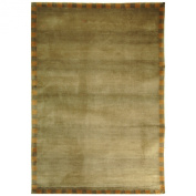 Safavieh Tibetan Collection TB004B Hand-knotted Sage and Green Wool Area Rug, 1.5m by 2.1m