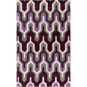 Surya Cosmopolitan COS-9178 Transitional Hand Tufted 100% Polyester White 1.5m x 2.4m Stripes Area Rug