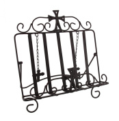 Wrought Iron Gothic Cross Bible Holder Easel Stand