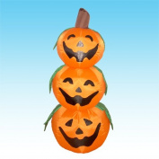 1.2m Halloween Inflatable 3 Jack-O-Lanterns Yard Art Decoration