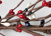 140cm Long Hand Wrapped Americana Pip Berry Garland for Decorating Year Round