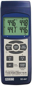 Reed Instruments SD-947-NIST Thermocouple Thermometer Data Logger with NIST Traceable Certificate, 4 Channel