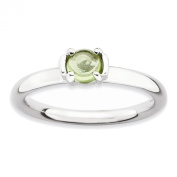 Sterling Silver Stackable Expressions Polished Peridot Ring