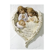 "21cm Hush-a-bye"" Plaque Baby Plaque with Guradian Angels. Perfect for a Baptism Christening or Baby Shower"
