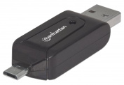 Mobile OTG Adapter, 1-Port USB 2.0 to Micro USB, 24-in-1 Card Reader/Writer