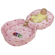 Leachco Podster Play Pack Combined Infant Lounger & Play Pad - Skybirds Pink