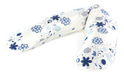 The Original Theraline Maternity & Nursing Pillow with Removable Zippered Cover, Blue Bouquet