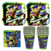 832 Teenage Mutant Ninja Turtles Birthday Party Set Party Supplies Pack for 16 guests - plates, cups, napkins
