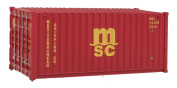 Walthers SceneMaster RS MSC Container, 6.1m, Red