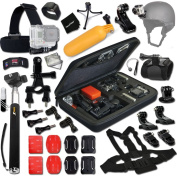 Xtech® GOPRO Hero TRAVEL and Hiking ACCESSORIES Kit for GoPro HERO4 SESSION, HERO4, Hero 4 3+ 3 2 1 Hero4 Hero3 Hero2, Hero 4 Silver, Hero 4 Black, Hero 3+ Hero3+ Hero 3 Silver, Hero 3 Black and for Travel, Travelling, Hiking, Climbing, Camping, ..