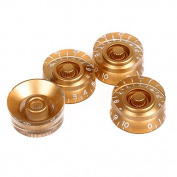 Gold Speed Control Knobs For Les Paul LP Electric Guitar White Numerals