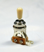 (A16) 3 Way Toggle Switch Pickup Selector ,Chrome w/Cream Tip