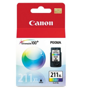 Canon 2975B001 (CL-211XL) High-Yield Ink, 349 Page-Yield, Tri-Colour