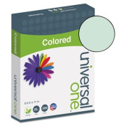 Universal 11203 - Coloured Paper, 9.1kg, 8-1/2 x 11, Green, 500 Sheets/Ream-UNV11203