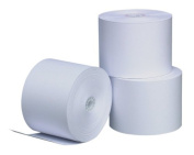 PM Company Perfection One Ply Blended Bond Paper Rolls, 0.9m X 50m, White, 50 Rolls Per Carton