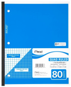 Mead(R) Wireless Neatbook(R), Quadrille Ruled, 22cm x 28cm , 80 Pages