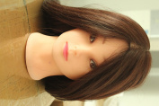 60cm 50% Human Hair Hairdressing Training Head Practise Mannequin Clamp Cut