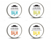 2 The Nines Premium Beard Balm 4 x 30ml Gift Multipack Set - 4 Scents