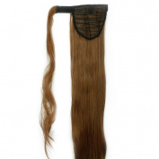 1.9cm Fashion Long Wrap Around Ponytail Straight Curly Wavy Clip in Pony Tail Hair Extension Extensions Black Blonde Brown