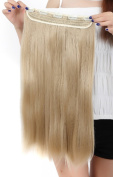 Fashion Long Straight One Piece 5Clips Clip in Hair Extension Extensions Half Full Head Womens Ladies 80cm Ash Blonde