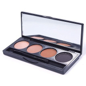 JaneDream Hot 4 Colour . Eyebrow Powder Palette Toiletry Makeup Shading Kit with Brush Mirror