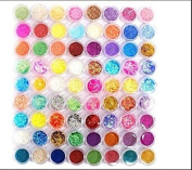 XICHEN® 72PC nail art glitter powder dust tips decoration Mixing device includes a plurality of types