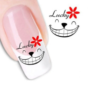 MLMSZ Nail Art Lucky Smile Water Transfer Decal / Tattoo / Sticker